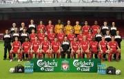 英超联赛球队 0708 team桌面壁纸 官方Liverpool 利物浦壁纸球员阵容 体育壁纸