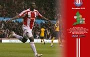 英超联赛球队 Seyi Olofinjana November Wallpaper桌面壁纸 官方Stoke City 斯托克城壁纸 体育壁纸