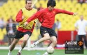英超联赛球队 官方Manchester United Ji Sung Park桌面壁纸 红魔曼联壁纸 备战训练 体育壁纸
