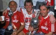 英超联赛球队 官方 1990 dalglish moranevans桌面壁纸 Liverpool 利物浦壁纸传奇一刻 体育壁纸
