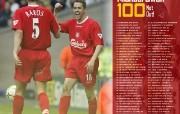 英超联赛球队 官方 Michael Owen 100桌面壁纸 Liverpool 利物浦壁纸传奇一刻 体育壁纸