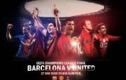 英超联赛球队 官方 Champions Lge Final桌面壁纸 Manchester United 红魔曼联壁纸 200809赛季 体育壁纸
