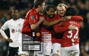 英超联赛球队 官方 Fulham 0 United 4桌面壁纸 Manchester United 红魔曼联壁纸 200809赛季 体育壁纸