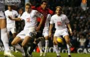 英超联赛球队 官方 Tevez vs Spurs桌面壁纸 Manchester United 曼联壁纸胜利时刻 体育壁纸