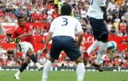 英超联赛球队 官方 Nani vs Spurs桌面壁纸 Manchester United 曼联壁纸胜利时刻 体育壁纸