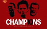 英超联赛球队 官方 Champions 10桌面壁纸 Manchester United 曼联壁纸胜利时刻 体育壁纸