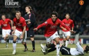 英超联赛球队 官方 Tevez vs Lyon桌面壁纸 Manchester United 曼联壁纸胜利时刻 体育壁纸