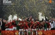 英超联赛球队 官方 Moscow Celebration桌面壁纸 Manchester United 曼联壁纸胜利时刻 体育壁纸