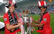 英超联赛球队 官方 Ronaldo and Nani桌面壁纸 Manchester United 曼联壁纸胜利时刻 体育壁纸