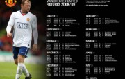 英超联赛球队 官方 2008 09 Fixtures桌面壁纸 Manchester United 曼联壁纸胜利时刻 体育壁纸