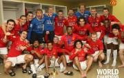 英超联赛球队 官方 World Champions桌面壁纸 Manchester United 曼联壁纸胜利时刻 体育壁纸