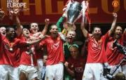 英超联赛球队 官方 European Champions桌面壁纸 Manchester United 曼联壁纸胜利时刻 体育壁纸