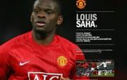 英超联赛球队 官方 Louis Saha桌面壁纸 Manchester United 曼联球员壁纸 体育壁纸