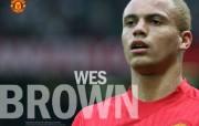 英超联赛球队 官方 Wes Brown桌面壁纸 Manchester United 曼联球员壁纸 体育壁纸