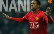 英超联赛球队 官方 Nani桌面壁纸 Manchester United 曼联球员壁纸 体育壁纸