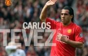 英超联赛球队 官方 Carlos Tevez桌面壁纸 Manchester United 曼联球员壁纸 体育壁纸