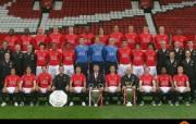 英超联赛球队 官方 2008 09 Squad桌面壁纸 Manchester United 曼联球员壁纸 体育壁纸