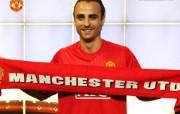 英超联赛球队 官方 Berbatov Signs桌面壁纸 Manchester United 曼联球员壁纸 体育壁纸