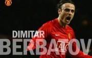 英超联赛球队 官方 Dimitar Berbatov桌面壁纸 Manchester United 曼联球员壁纸 体育壁纸