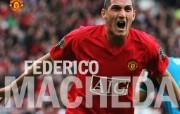 英超联赛球队 官方 Federico Macheda桌面壁纸 Manchester United 曼联球员壁纸 体育壁纸