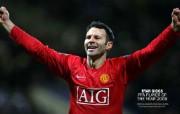 英超联赛球队 官方 Ryan Giggs PFA Player of the Year 2009桌面壁纸 Manchester United 曼联球员壁纸 体育壁纸