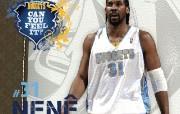 NBA 2009 10赛季丹佛掘金桌面壁纸 Nene桌面壁纸 NBA200910赛季丹佛掘金桌面壁纸 体育壁纸
