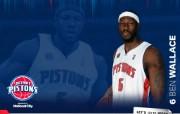 NBA 2009 10赛季底特律活塞球员阵容桌面壁纸 Ben Wallace桌面壁纸 NBA200910赛季底特律活塞球员阵容桌面壁纸 体育壁纸