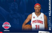 NBA 2009 10赛季底特律活塞球员阵容桌面壁纸 Charlie Villanuevabr桌面壁纸 NBA200910赛季底特律活塞球员阵容桌面壁纸 体育壁纸