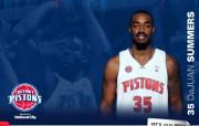 NBA 2009 10赛季底特律活塞球员阵容桌面壁纸 DaJuan Summers桌面壁纸 NBA200910赛季底特律活塞球员阵容桌面壁纸 体育壁纸