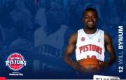 NBA 2009 10赛季底特律活塞球员阵容桌面壁纸 Will Bynum桌面壁纸 NBA200910赛季底特律活塞球员阵容桌面壁纸 体育壁纸