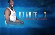 NBA 2009 10赛季俄克拉荷马城雷霆桌面壁纸 D J White桌面壁纸 NBA200910赛季俄克拉荷马城雷霆桌面壁纸 体育壁纸