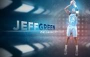 NBA 2009 10赛季俄克拉荷马城雷霆桌面壁纸 Jeff Green桌面壁纸 NBA200910赛季俄克拉荷马城雷霆桌面壁纸 体育壁纸