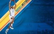 NBA 2009 10赛季俄克拉荷马城雷霆桌面壁纸 Russell Westbrook桌面壁纸 NBA200910赛季俄克拉荷马城雷霆桌面壁纸 体育壁纸