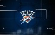 NBA 2009 10赛季俄克拉荷马城雷霆桌面壁纸 Thunder Logo桌面壁纸 NBA200910赛季俄克拉荷马城雷霆桌面壁纸 体育壁纸