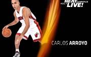 NBA 2009 10赛季迈阿密热火桌面壁纸 Carlos Arroyo桌面壁纸 NBA200910赛季迈阿密热火桌面壁纸 体育壁纸