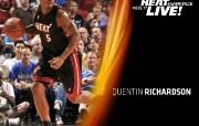 NBA 2009 10赛季迈阿密热火桌面壁纸 Quentin Richardson桌面壁纸 NBA200910赛季迈阿密热火桌面壁纸 体育壁纸