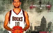 NBA 2009 10赛季密尔沃基雄鹿桌面壁纸 Carlos Delfino壁纸下载 NBA200910赛季密尔沃基雄鹿桌面壁纸 体育壁纸