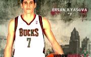 NBA 2009 10赛季密尔沃基雄鹿桌面壁纸 Ersan Ilyasova壁纸下载 NBA200910赛季密尔沃基雄鹿桌面壁纸 体育壁纸