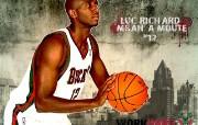 NBA 2009 10赛季密尔沃基雄鹿桌面壁纸 Luc Richard Mbah a Moute壁纸下载 NBA200910赛季密尔沃基雄鹿桌面壁纸 体育壁纸
