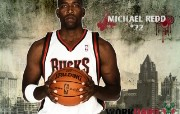 NBA 2009 10赛季密尔沃基雄鹿桌面壁纸 Michael Redd壁纸下载 NBA200910赛季密尔沃基雄鹿桌面壁纸 体育壁纸