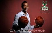 NBA 2009 10赛季密尔沃基雄鹿桌面壁纸 Brandon Jennings壁纸下载 NBA200910赛季密尔沃基雄鹿桌面壁纸 体育壁纸