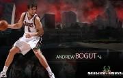 NBA 2009 10赛季密尔沃基雄鹿桌面壁纸 Andrew Bogut壁纸下载 NBA200910赛季密尔沃基雄鹿桌面壁纸 体育壁纸