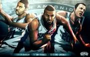 NBA 2009 10赛季圣安东尼奥马刺球员阵容桌面壁纸 Big Three NBA200910赛季圣安东尼奥马刺球员阵容桌面壁纸 体育壁纸