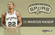 NBA 2009 10赛季圣安东尼奥马刺球员阵容桌面壁纸 Marcus Haislip NBA200910赛季圣安东尼奥马刺球员阵容桌面壁纸 体育壁纸