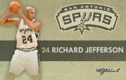 NBA 2009 10赛季圣安东尼奥马刺球员阵容桌面壁纸 Richard Jefferson NBA200910赛季圣安东尼奥马刺球员阵容桌面壁纸 体育壁纸