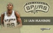 NBA 2009 10赛季圣安东尼奥马刺球员阵容桌面壁纸 Ian Mahinmi NBA200910赛季圣安东尼奥马刺球员阵容桌面壁纸 体育壁纸