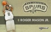 NBA 2009 10赛季圣安东尼奥马刺球员阵容桌面壁纸 Roger Mason Jr NBA200910赛季圣安东尼奥马刺球员阵容桌面壁纸 体育壁纸