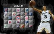 NBA 2009 10赛季圣安东尼奥马刺球员阵容桌面壁纸 George Hill NBA200910赛季圣安东尼奥马刺球员阵容桌面壁纸 体育壁纸