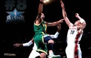 NBA 2009 10赛季犹他爵士桌面壁纸 ALL STAR GREEN SHINE 桌面壁纸 NBA200910赛季犹他爵士桌面壁纸 体育壁纸