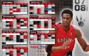 NBA壁纸多伦多猛龙队0708赛季桌面壁纸 体育壁纸